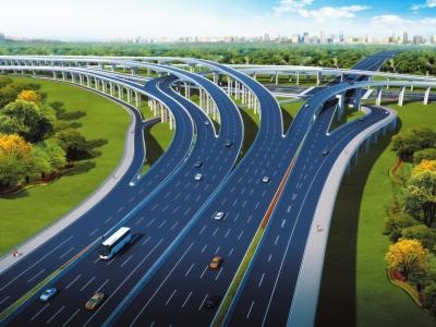 天府大道北延线德阳段效果图。