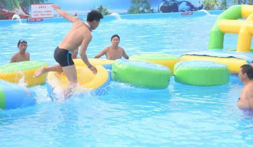 避暑好去处,水上冲关乐园