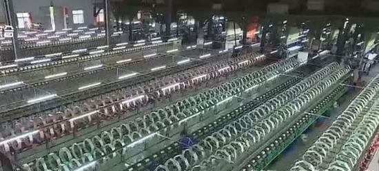 嘉陵区丝纺企业生产车间
