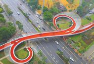 成都绿道节点如意桥 让人眼前一亮