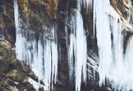 北川大山里藏着一处冰瀑景观