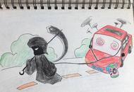 四川90后女交警手绘漫画