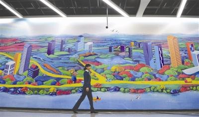 成都地铁1号线三期武汉路站的壁画