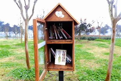 """""""漂流 书架""""   摄于2018年2月4日,邛崃市邛州绿道。   作者 刘海韵"""
