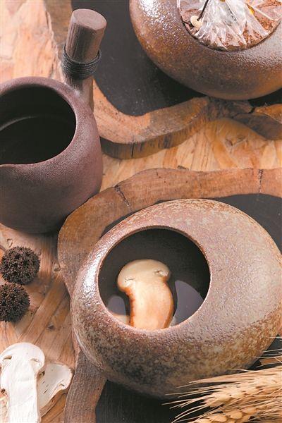 火山石松茸汤