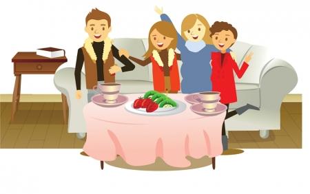 春节吃东西手绘图片