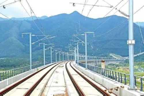 建设中的成蒲铁路