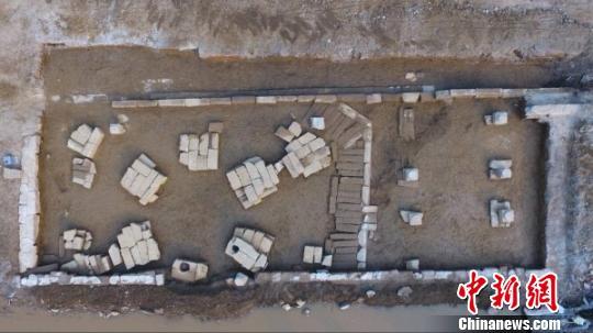 图为绵阳市三台县发现明清时期文庙建筑基址。 绵阳市博物馆提供