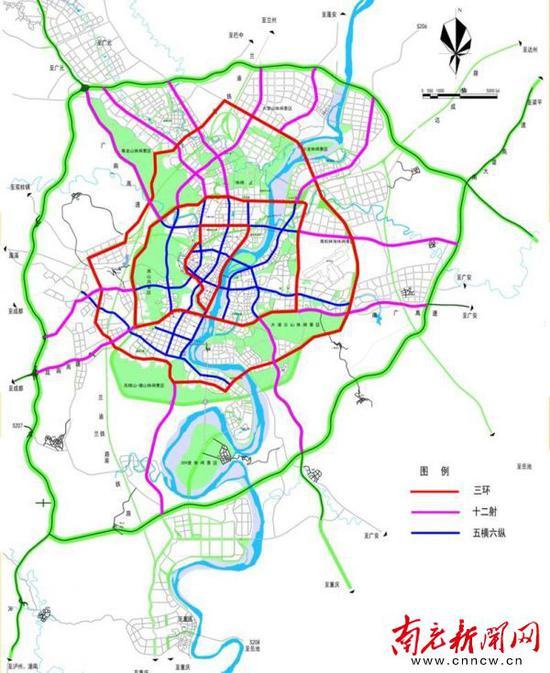 南充城市快速路网规划出炉 这个片区建 三环