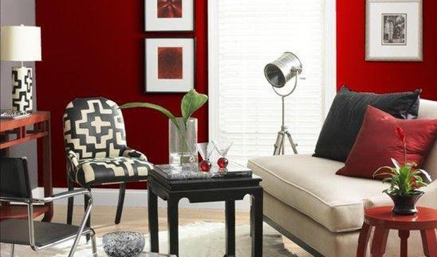 别让家居冷场 用这一抹红色装点客厅吧