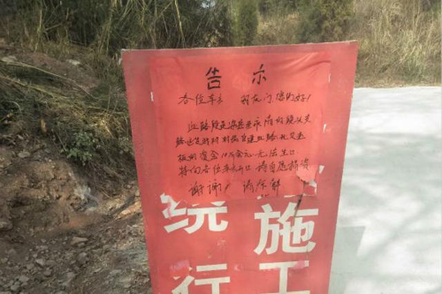 网曝安岳乡村公路开通村干部设卡收费 官方:已叫停
