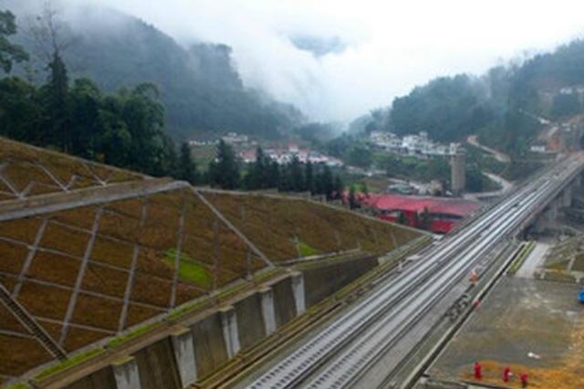 这个春节成贵高铁铺轨不停 年内四川部分路段有望通车