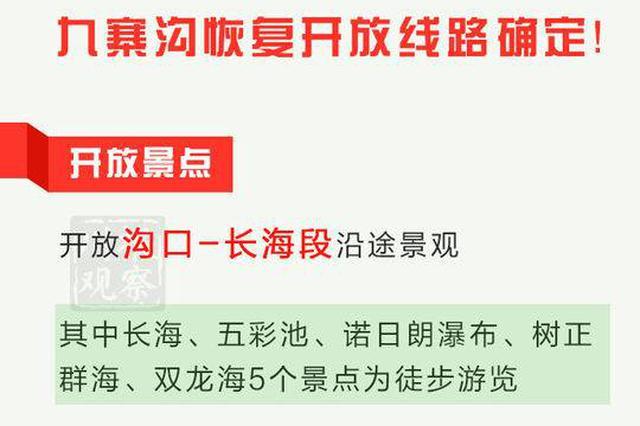 九寨沟3月8日起恢复开放