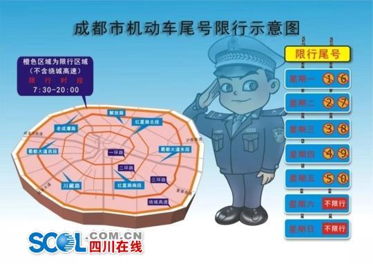 1月22日起 成都限行范围扩至绕城限行时间延长