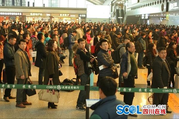 春节大假第一天 7万人飞出成都