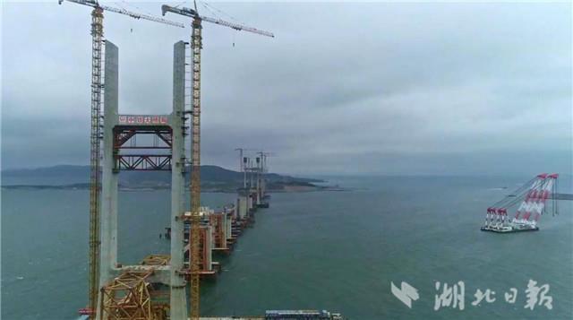 跨越风季来看你 世界最长跨海峡公铁桥6个主塔全部封顶