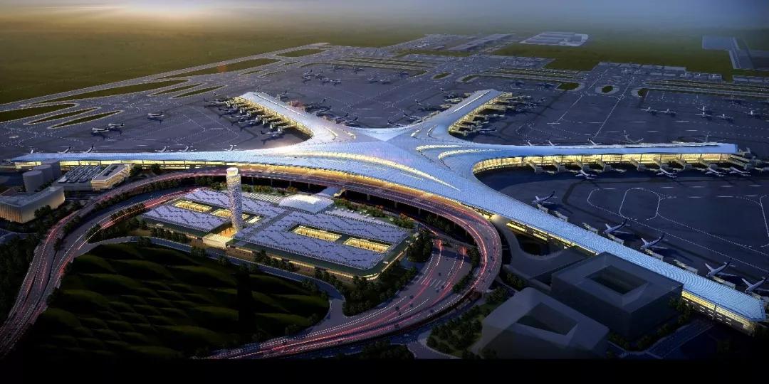 青岛胶东国际机场又有新进展 海量震撼动图