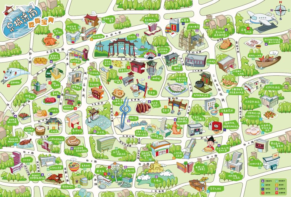 山东推出手绘美食地图