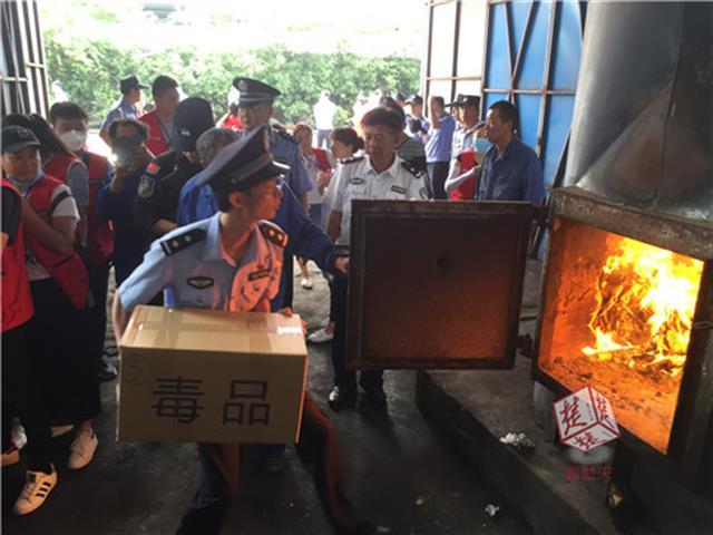 380公斤毒品和988公斤制毒物品投入锅炉 武汉警方今日集中销毁