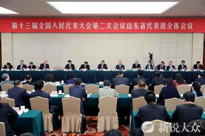 山东代表团举行第一次全体会议 审议政府工作报告