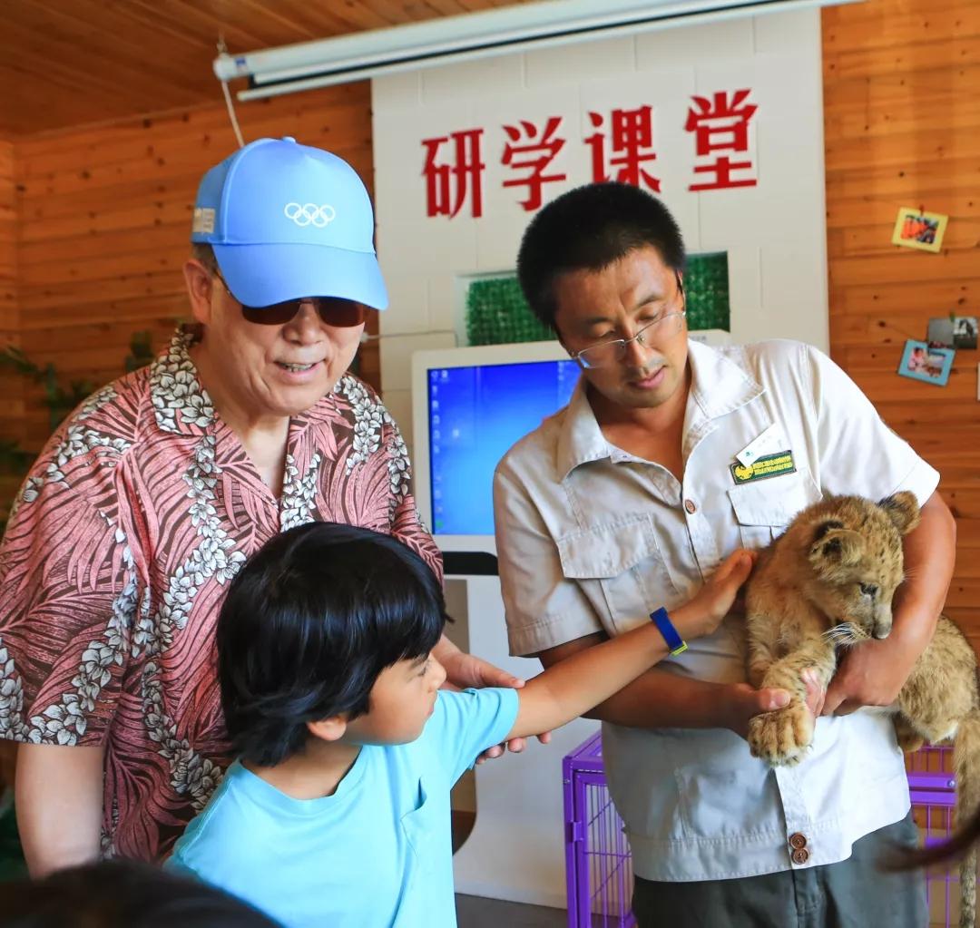前联合国秘书长潘基文到访西霞口野生动物园