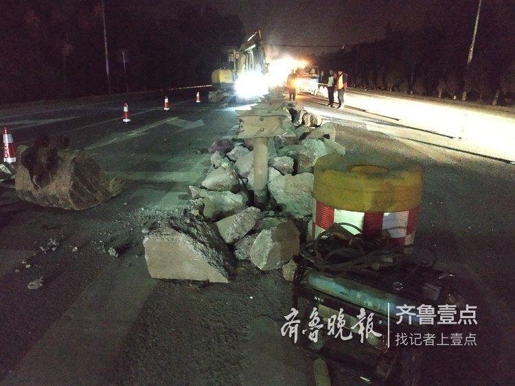 注意啦济南103省道一路口正在拓展施工
