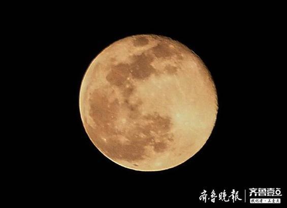 4月8日晚离济南最近的超级月亮是这个颜色
