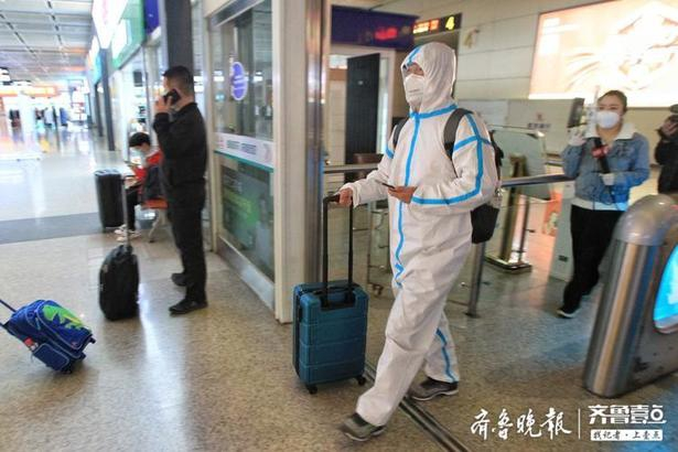 武汉解封首日首趟来济列车载73人平安抵达