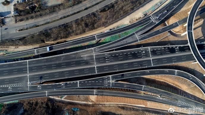 是济南市体积最大的互通式立交桥.-济南最复杂的立交桥 现已具备