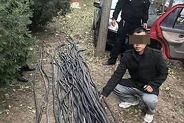 烟台男子偷160米电缆却运不走 驾车离开时因电缆过重被卡住