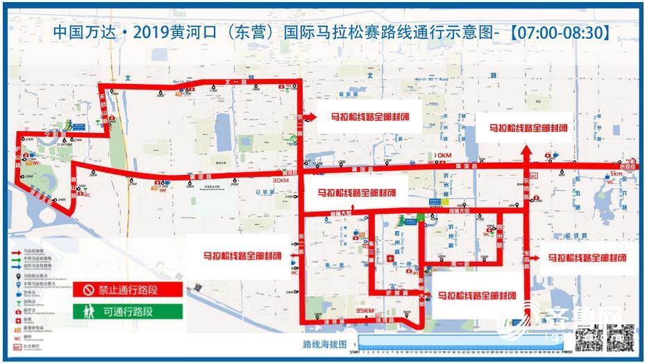 2019黄河口马拉松赛比赛路线图出炉