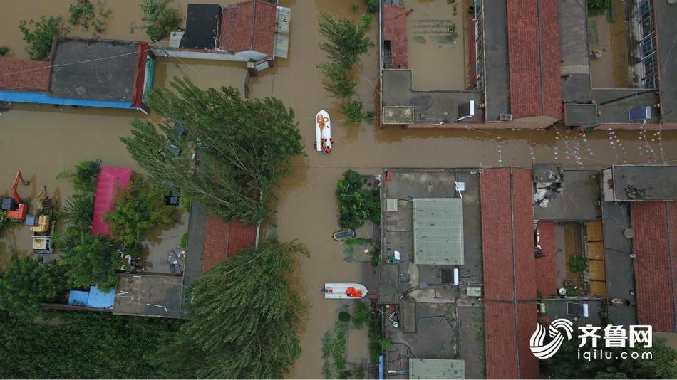 章丘相公镇皋西村等多个村被淹