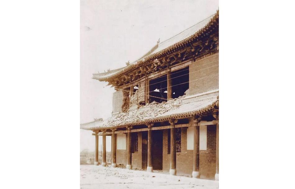 1928 被日军炮火破坏的济南古城