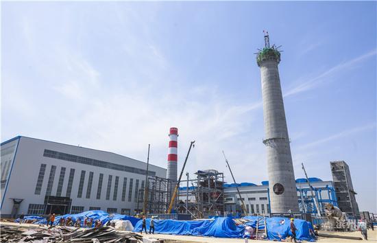 碳材料厂区建设施工基本处于扫尾阶段