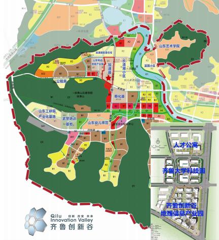 齐鲁创新谷地理空间信息产业园区位图