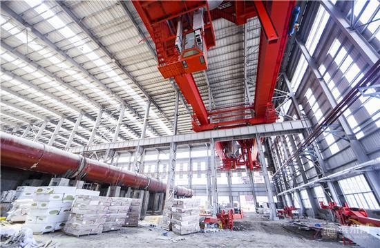 创新年产188万吨铝用碳材料项目车间