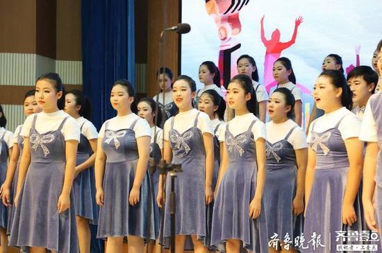 日照市北京路中学兰蕙之声合唱团获省赛日照区第一名