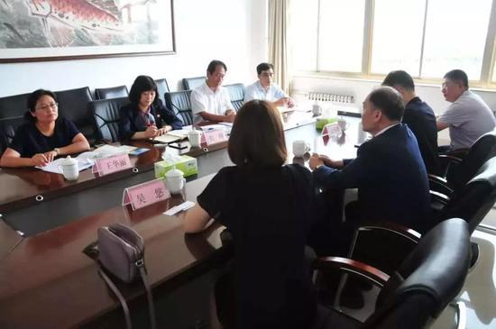 ▲食品系与韩国富川大学洽谈专升本合作项目