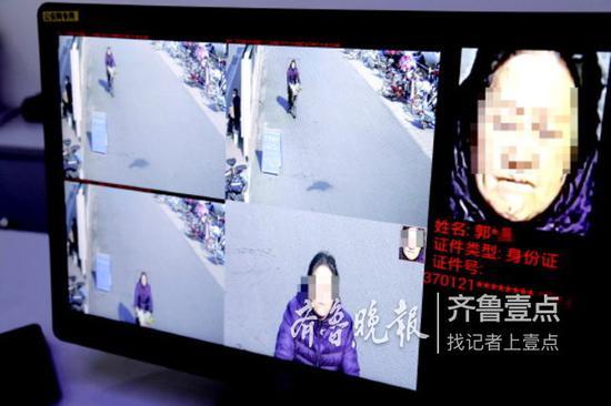 10日,一女子逆行的行为在电脑和路口大屏幕上同步显示。