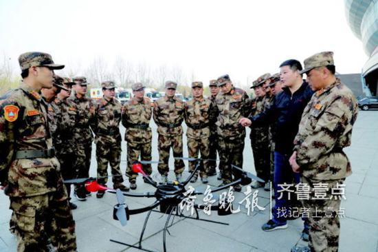 济南人防跨区域协同大练兵。