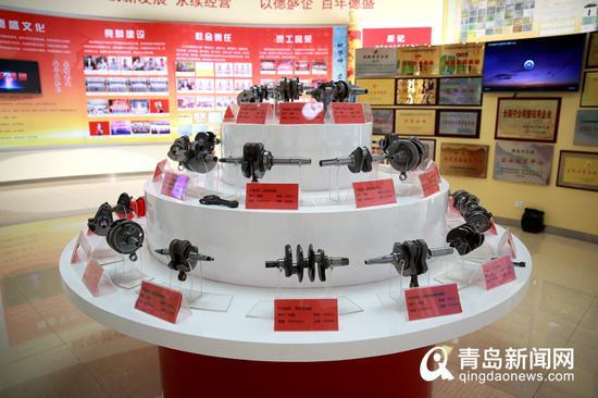 德盛生产的曲轴产品展示。