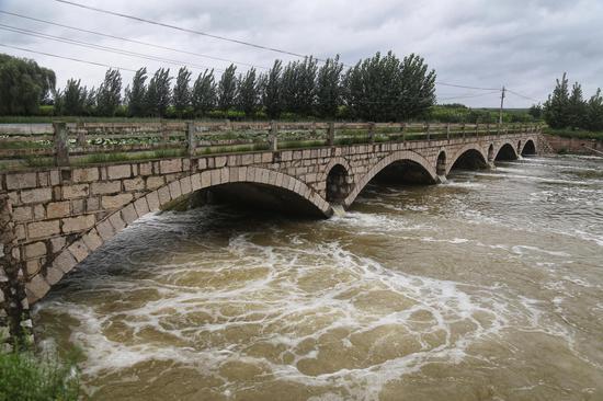 8月12日,潍河水位已经降了下去