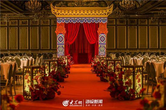 中式婚礼场景布置(通讯员 史艳林摄)
