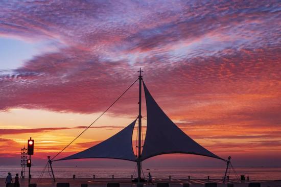 仙境光影 烟台有一种美 叫海上日出