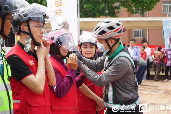 """""""一盔一带 安全常在""""宣传活动"""