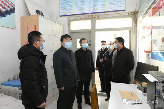 宁津县副县长王新志宁津县人民医院调研疫情防控和安全生产工作