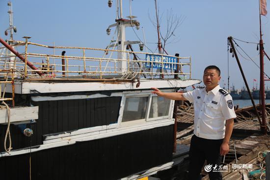 莱州市海洋与渔业监督监察大队大队长宋占顺介绍违规渔船情况