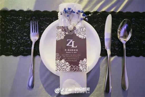 """""""分餐式""""婚礼现场(通讯员 史艳林摄)"""