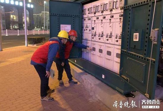 小年夜实战演练应急抢修 力保春节期间用电安全稳定