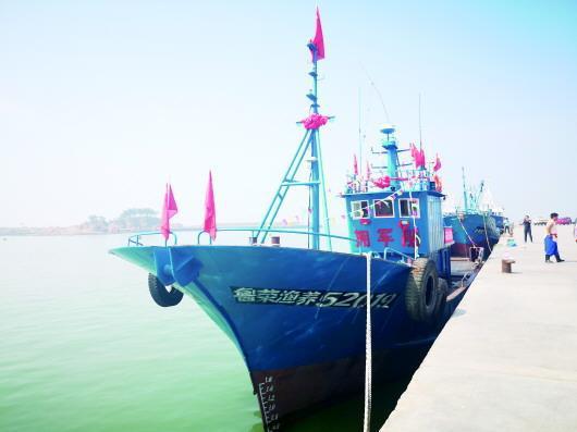 院夼村第五代拥军船今年7月22日首航。